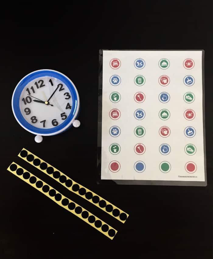 chore clock for kids