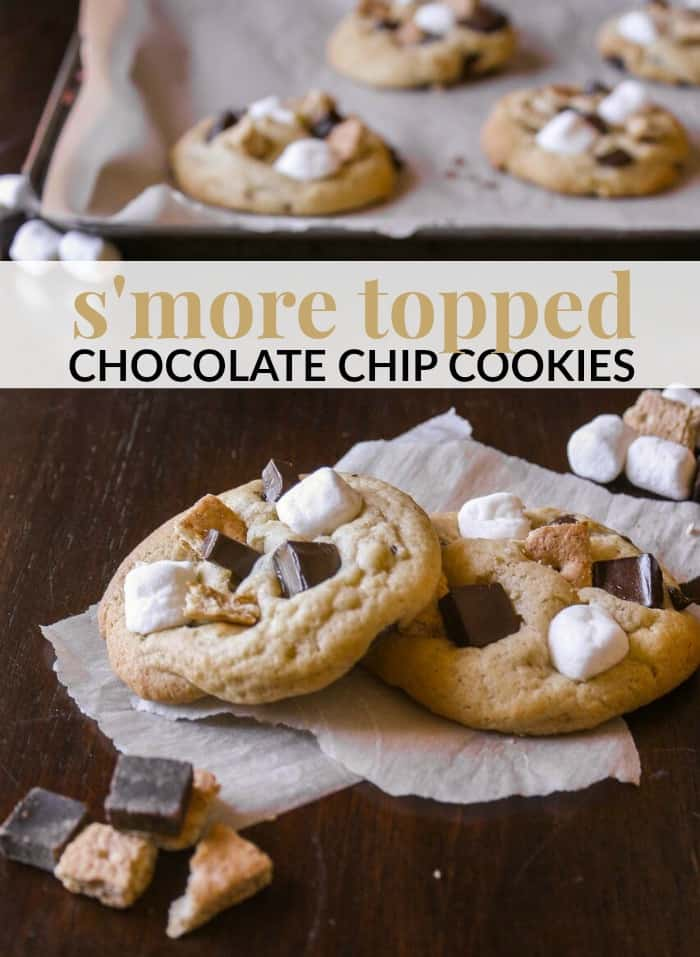 Smore Topped Chocolate Chip Cookie Recipe