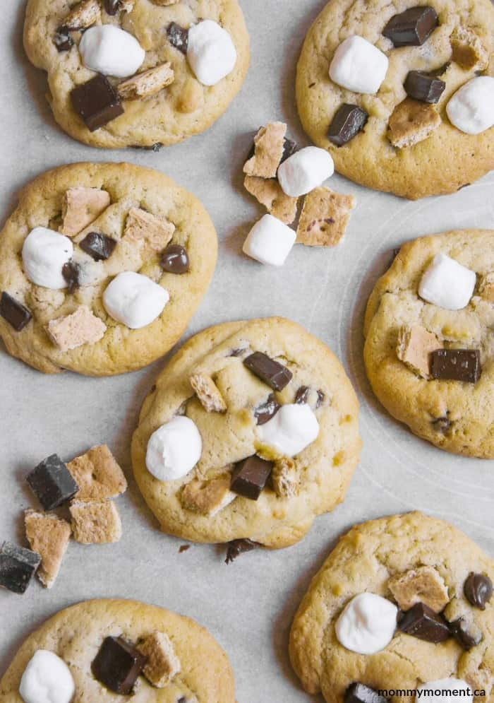 Chocolate Chip S'mores Cookie Recipe
