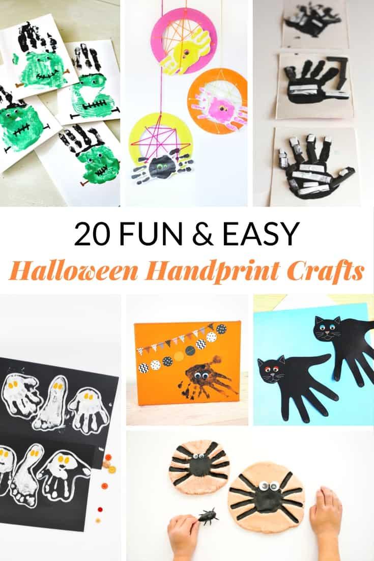 Easy halloween handprint crafts