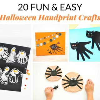 20 FUN & EASY HALLOWEEN HANDPRINT CRAFTS
