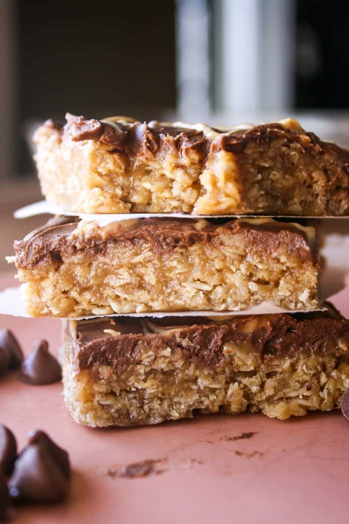 Oatmeal Chocolate Peanut Butter Bars