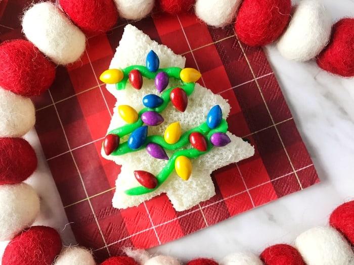 Christmas Tree Sandwich for kids