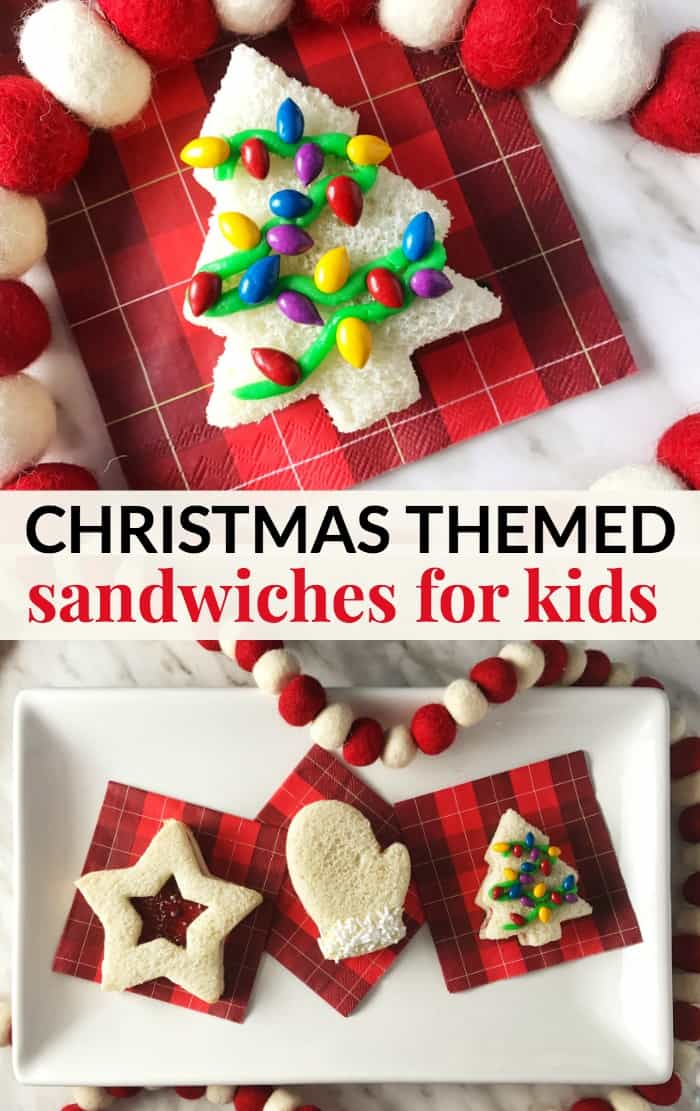 christmas themed sandwiches for kids