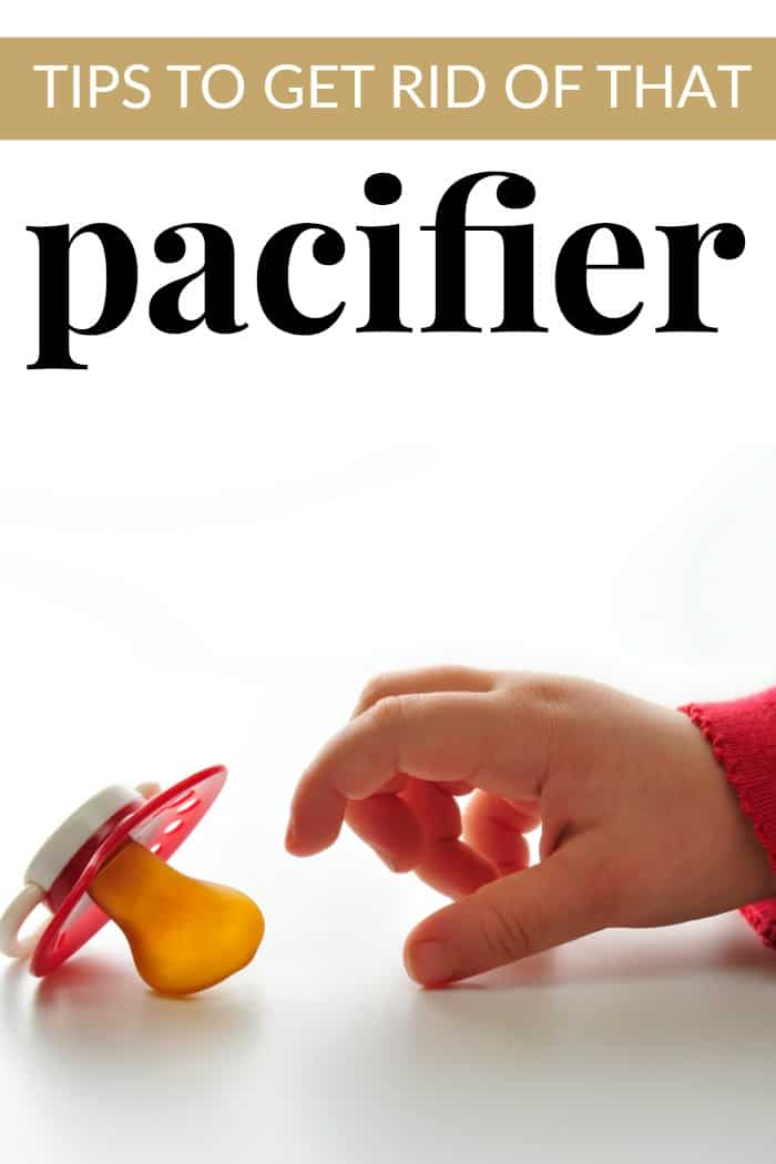 tips to get rid of that soother