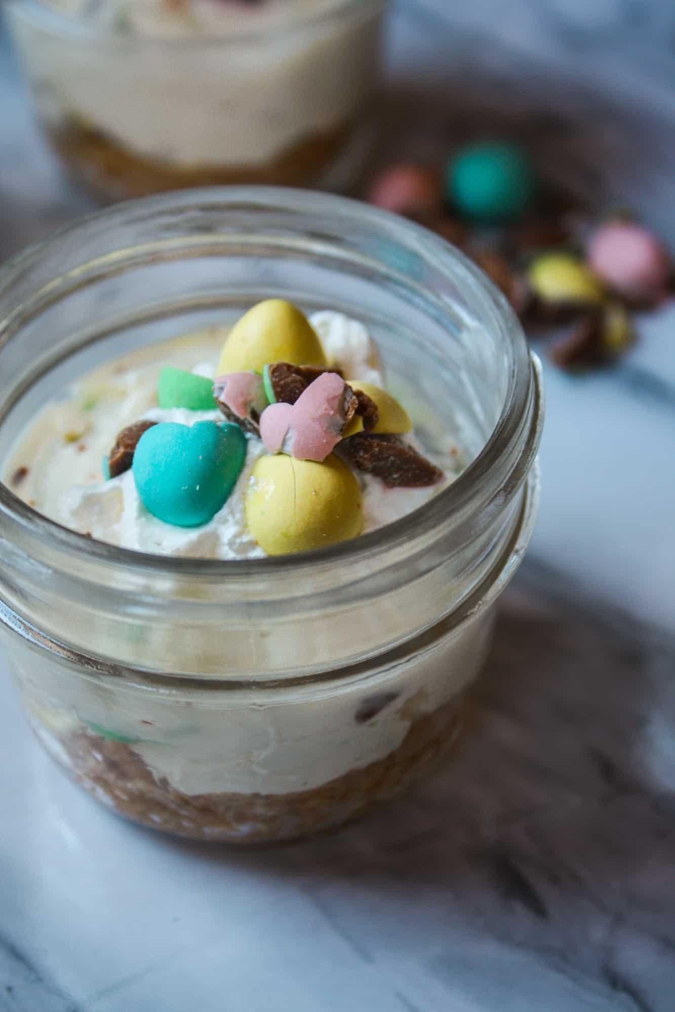 Easter Mini Egg Cheesecake Dessert
