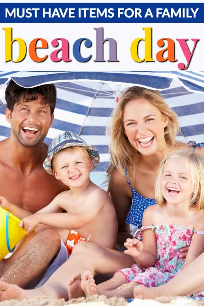 Must have items for a family beach day
